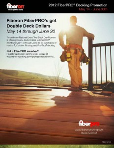 Fiberon FiberPRO Deck Promotion May 14 - June 30th