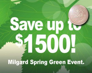 Homeowners save up to $1500 with Milgard's Spring Green Event