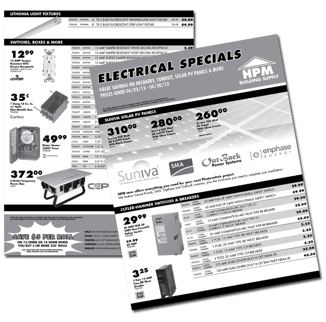 HPM Electrical Specials - April 2013