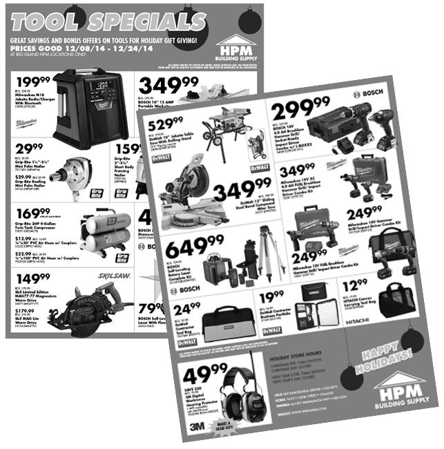 DECEMBER - Tool Specials