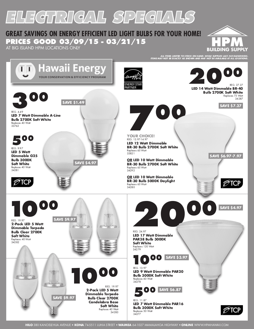 03-2015 HPM Bill Insert - Electrical Specials