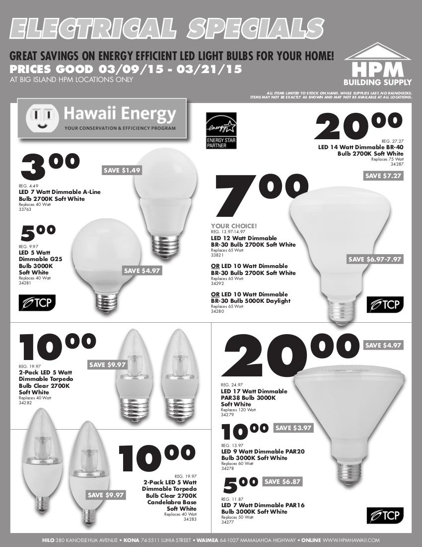 03-2015 HPM Bill Insert - Electrical Specials