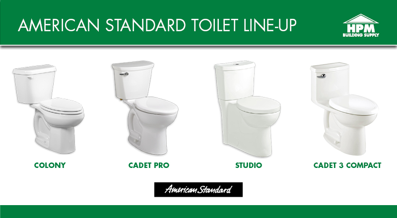American Standard Toilet Line-Up (No Prices)